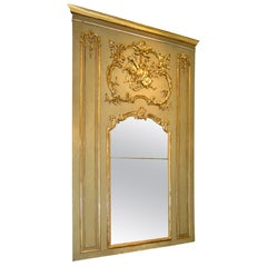 French Louis XV or XVI Style Giltwood Trumeau