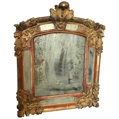 French Louis XV Period Giltwood Mirror