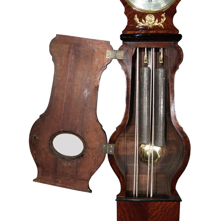 18th Century and Earlier French Louis XV Period Tall Case Clock with an Extremely Rare Mechanism Movement For Sale