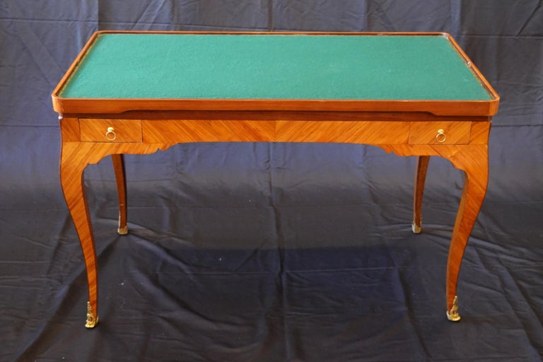French Louis XV Period Tric Trac or Backgammon Table Stamped P. Roussel For Sale 7