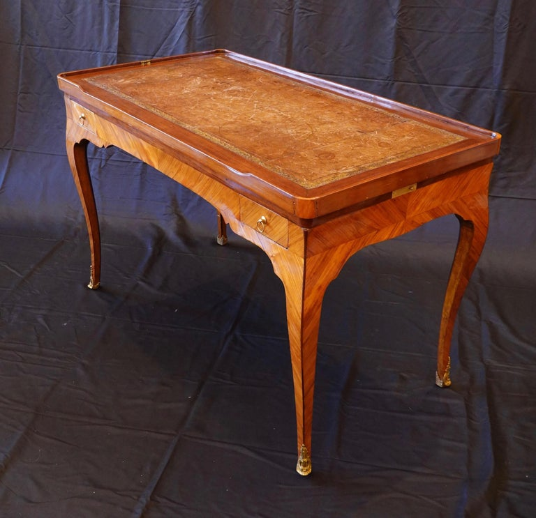 French Louis XV Period Tric Trac or Backgammon Table Stamped P. Roussel In Good Condition For Sale In Charleston, SC