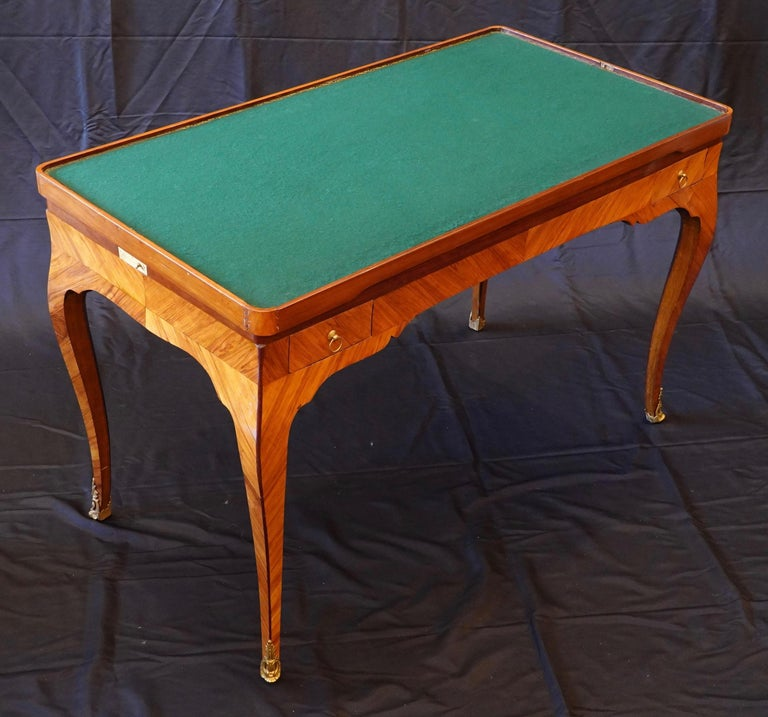 18th Century French Louis XV Period Tric Trac or Backgammon Table Stamped P. Roussel For Sale