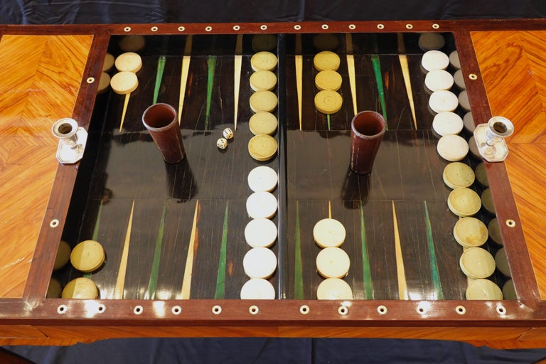 French Louis XV Period Tric Trac or Backgammon Table Stamped P. Roussel For Sale 2
