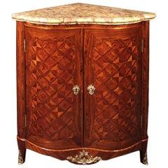 French Louis XV Period Tulipwood Parquetry Encoineur