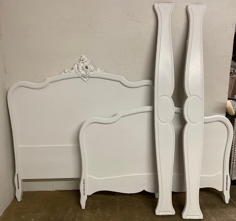French Louis XV Rococo Style Painted Bed For Sale 6