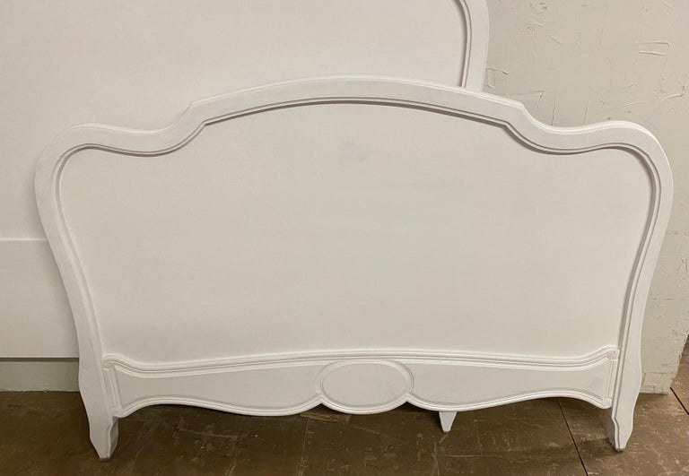 French Louis XV Rococo Style Painted Bed For Sale 1