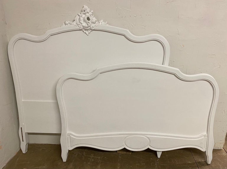 French Louis XV Rococo Style Painted Bed For Sale 2