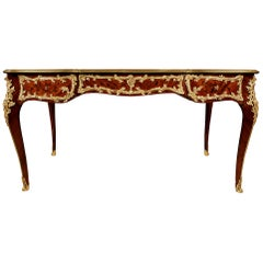 French Louis XV St. Bureau Plat by Theodore Millet