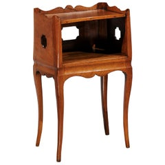 French Louis XV Style 19th Century Nightstand with Tray Top and Lateral Drawer