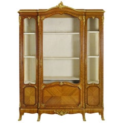 French Louis XV Style Antique Bookcase Cabinet Bookshelf by Schmit & Cie