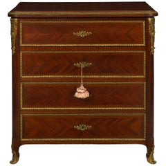 French Louis XV Style Antique Dressing Table Commode Chest of Drawers