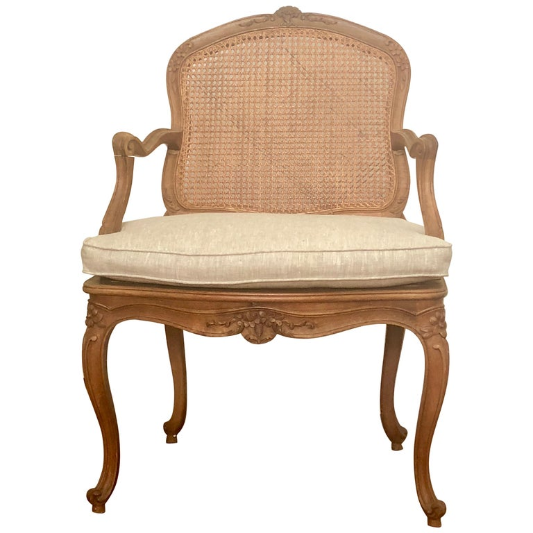 French Louis XV Style Armchair For Sale
