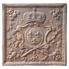 French Louis XV Style 'Arms of France' Fireback