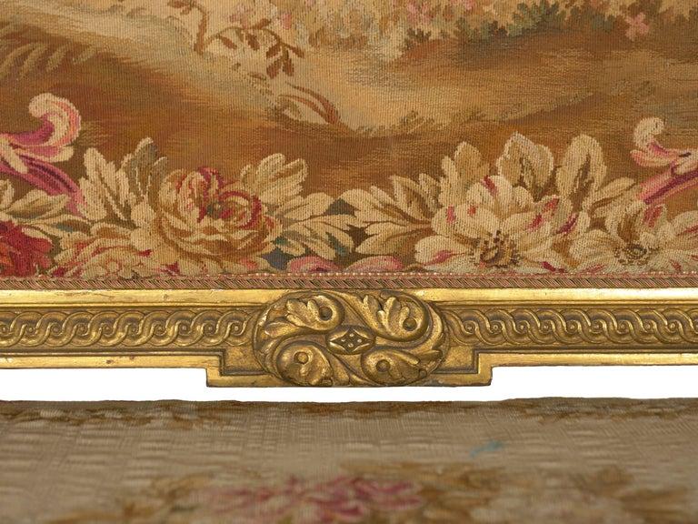 French Louis XV Style Aubusson Upholstered Antique Sofa, Paris, circa 1890 4