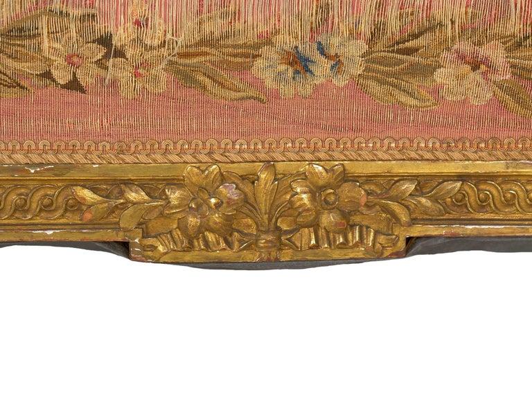 French Louis XV Style Aubusson Upholstered Antique Sofa, Paris, circa 1890 5