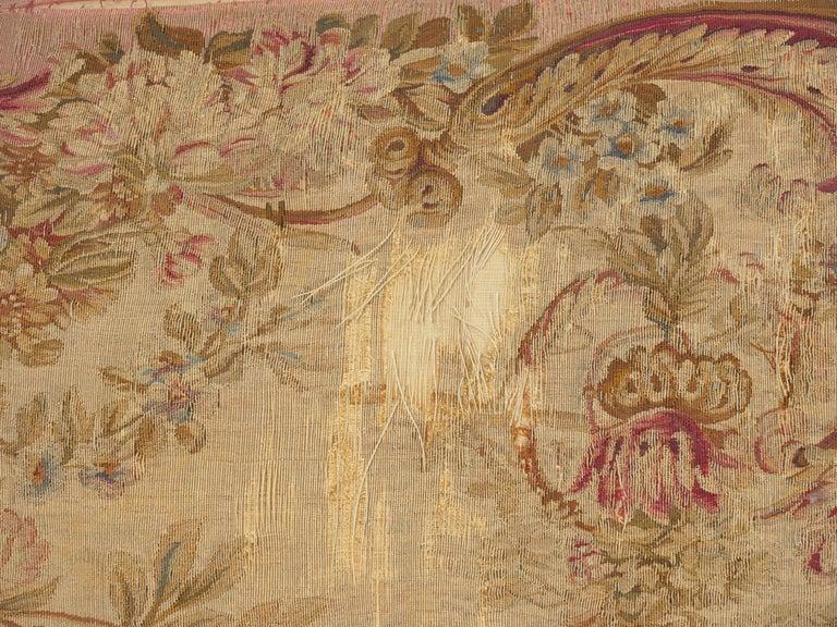 French Louis XV Style Aubusson Upholstered Antique Sofa, Paris, circa 1890 11
