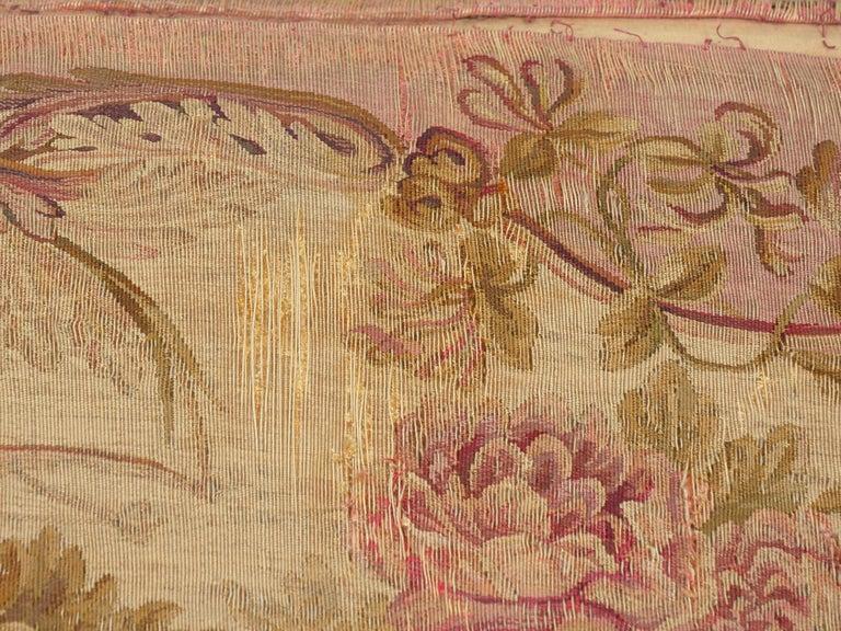 French Louis XV Style Aubusson Upholstered Antique Sofa, Paris, circa 1890 12
