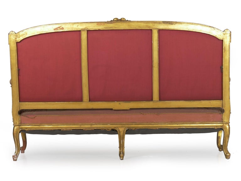 French Louis XV Style Aubusson Upholstered Antique Sofa, Paris, circa 1890 In Good Condition In Shippensburg, PA