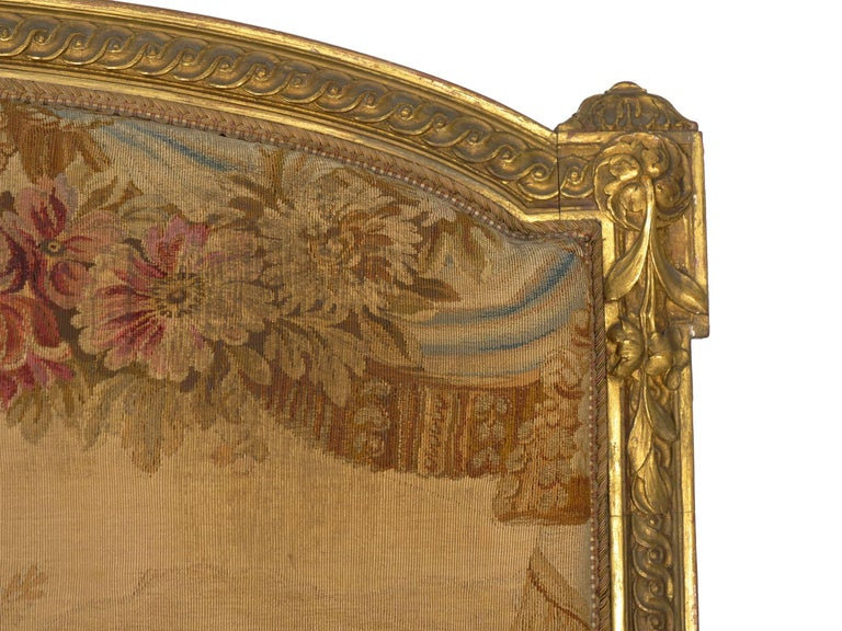 French Louis XV Style Aubusson Upholstered Antique Sofa, Paris, circa 1890 2