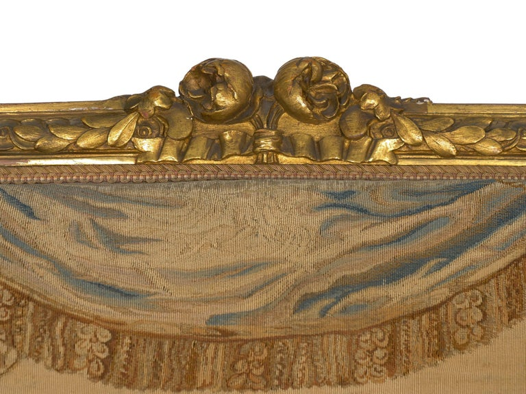 French Louis XV Style Aubusson Upholstered Antique Sofa, Paris, circa 1890 3