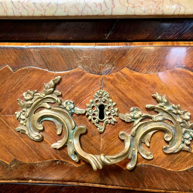French Louis XV Style Bombé Commode For Sale 4