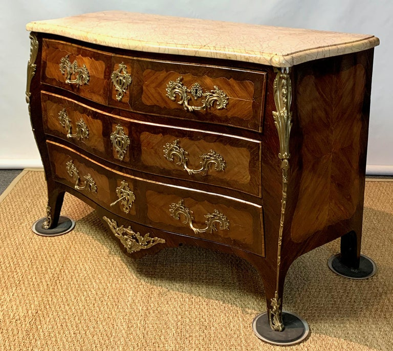 French Louis XV Style Bombé Commode For Sale 9