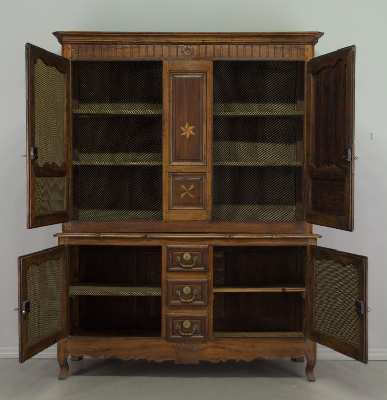 French Louis XV Style Buffet à Deux Corps or Cupboard For ...