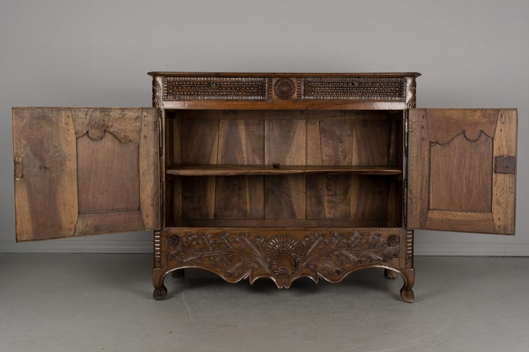 Iron French Louis XV Style Buffet from Brittany For Sale
