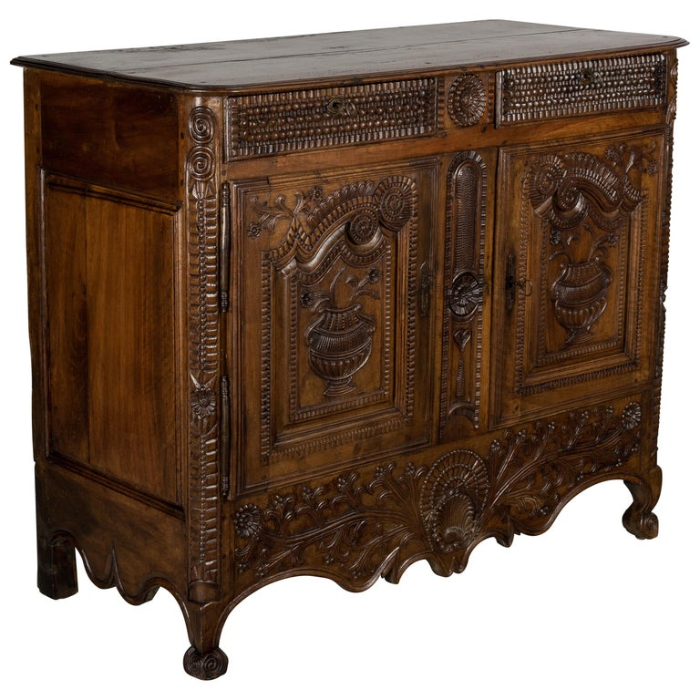 French Louis XV Style Buffet from Brittany For Sale