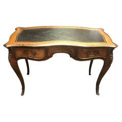 French Louis XV Style Bureau Plat Desk