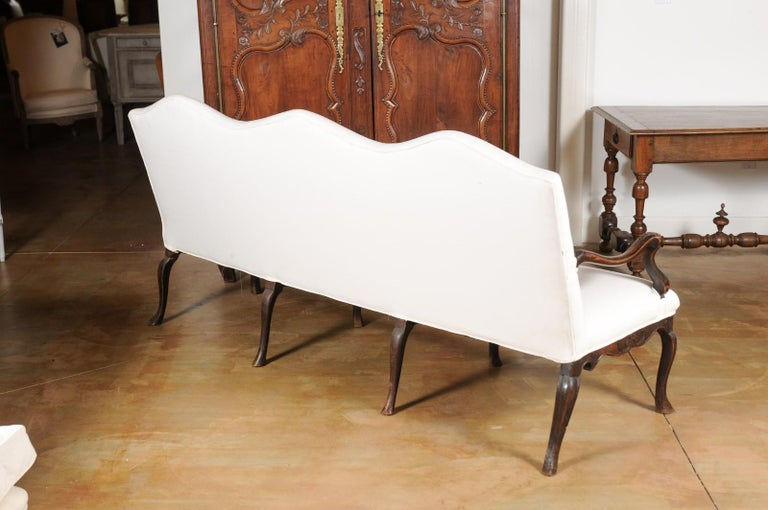 French Louis XV Style Carved 19th Century Upholstered Canapé with Cabriole Legs For Sale 5
