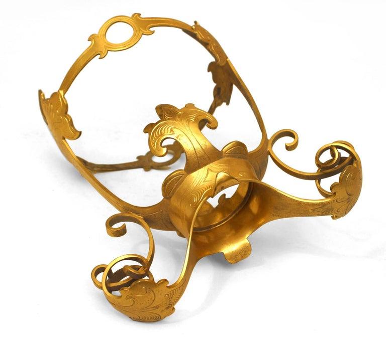 Bronze French Louis XV Style Celadon Crackled Design Porcelain Vase For Sale