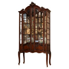 French Louis XV Style China Cabinet 19th Century