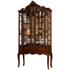 French Louis XV Style China Cabinet, 19th Century