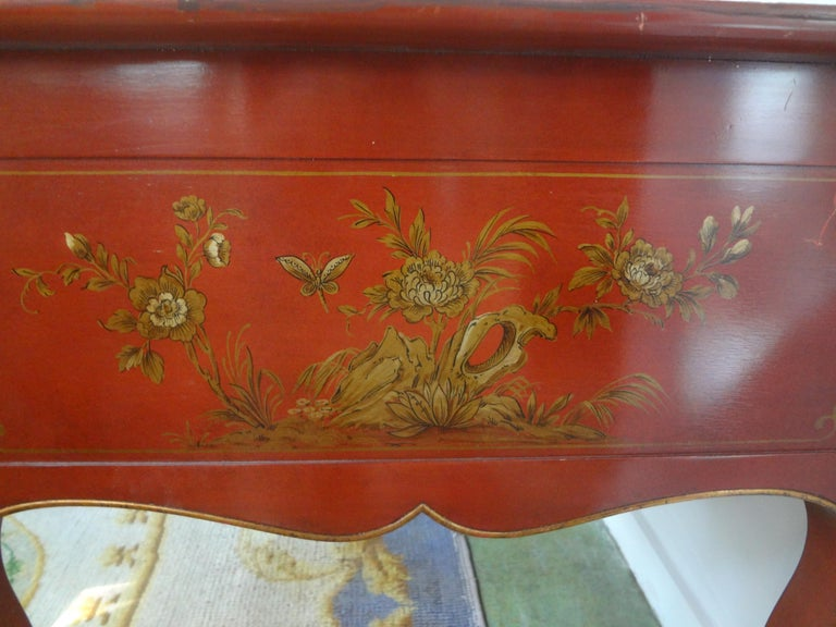 French Louis XV Style Chinoiserie Desk or Bureau Plat For Sale 5