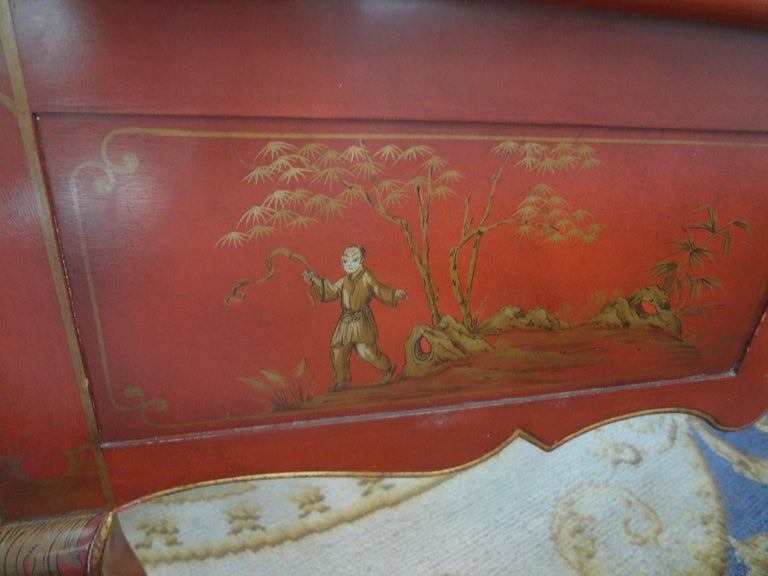 French Louis XV Style Chinoiserie Desk or Bureau Plat For Sale 6