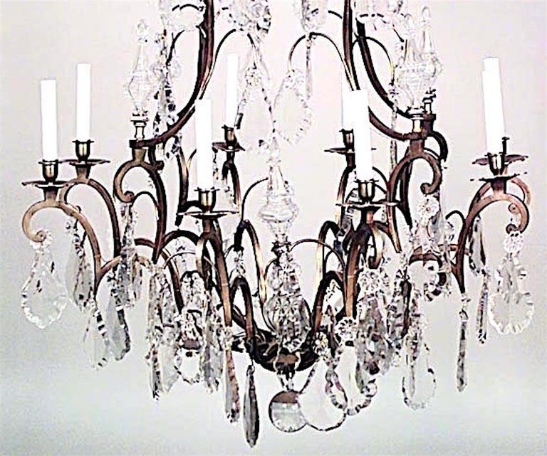 French Louis XV Style Crystal Chandelier In Good Condition For Sale In New York, NY