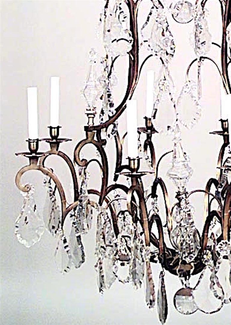 20th Century French Louis XV Style Crystal Chandelier For Sale