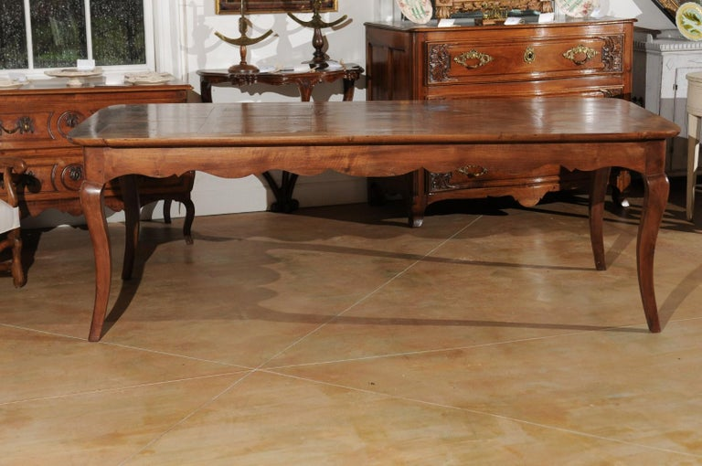 French Louis XV Style Custom Dining Table from Lyon with Parquetry Inlaid Top 5