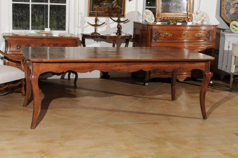 French Louis XV Style Custom Dining Table from Lyon with Parquetry Inlaid Top 6