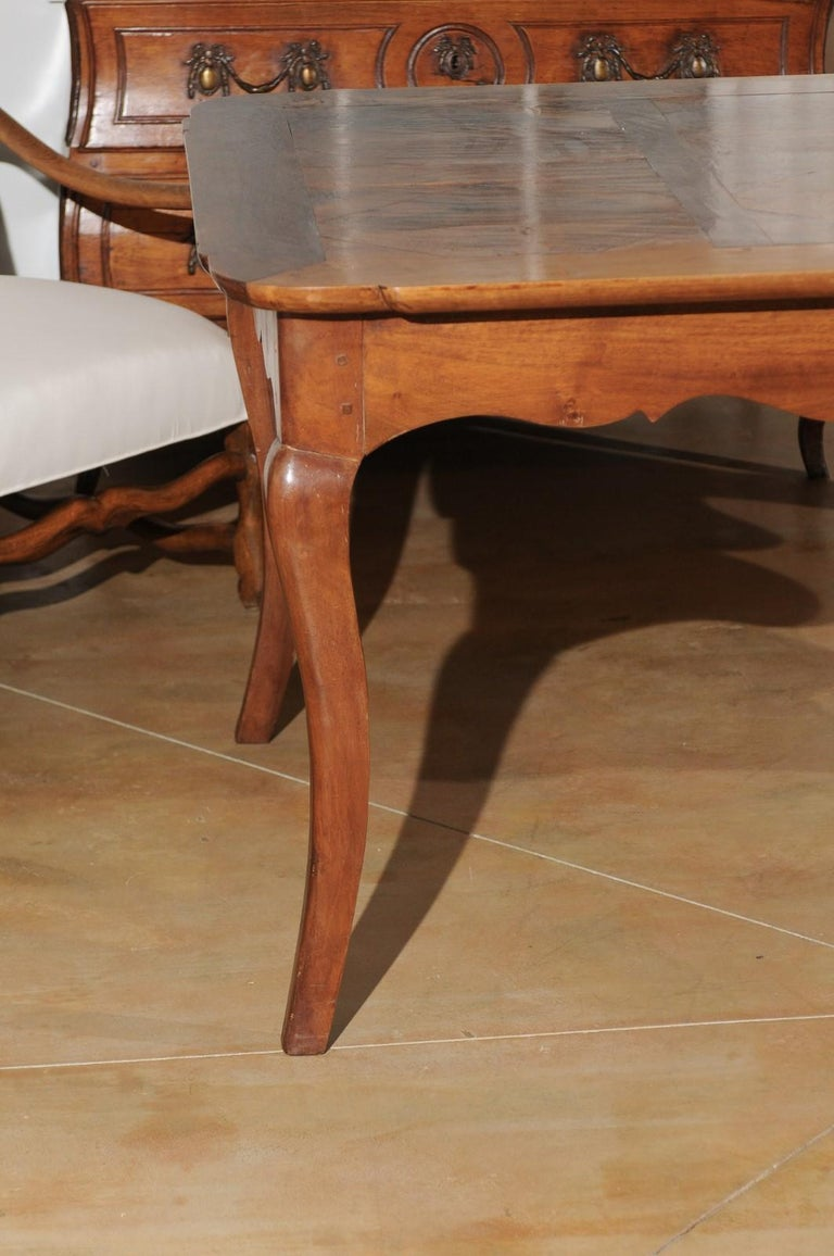 French Louis XV Style Custom Dining Table from Lyon with Parquetry Inlaid Top 7