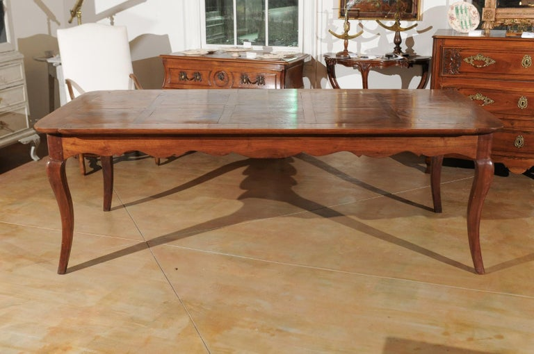 Wood French Louis XV Style Custom Dining Table from Lyon with Parquetry Inlaid Top