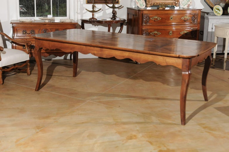 French Louis XV Style Custom Dining Table from Lyon with Parquetry Inlaid Top 2