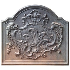 French Louis XV Style 'Decoration' Fireback