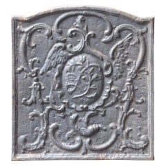 French Louis XV Style 'Decoration' Fireback