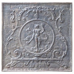 French Louis XV Style Fireback with the Goddess Venus