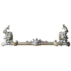 French Louis XV Style Fireplace Fender