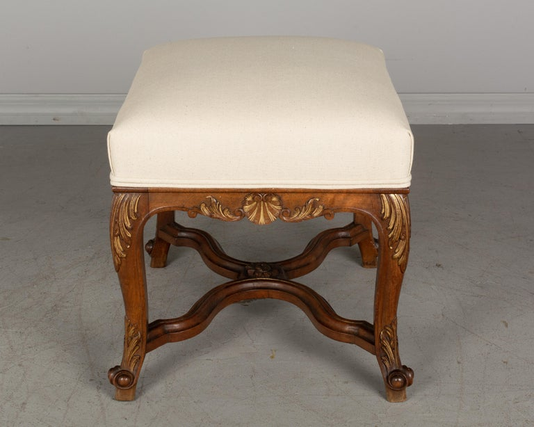 20th Century French Louis XV Style Foot Stool or Bench For Sale