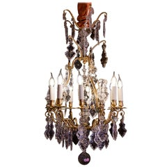 French Louis XV Style Gilt-Bronze and Baccarat Cut Crystal Chandelier circa 1880