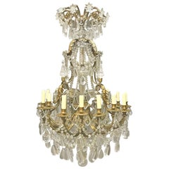 French Louis XV Style Gilt Bronze Chandelier, 19th Century